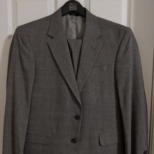 Jos. A Bank Wool Gray Two Piece Suit